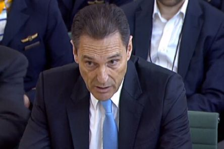 Former CEO of Thomas Cook Peter Fankhauser speaking to the House of Commons Business, Energy and Industrial Strategy Committee at Portcullis House in Westminster, during the inquiry into the collapse of the British travel operator. Picture: House of Commons/PA Wire