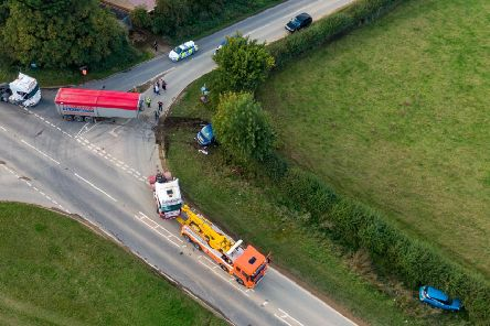 The crash in West Deeping. Photo: Terry Harris