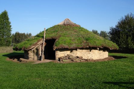 Reconstructed Bronze Age roundhouse at Flag Fen.
