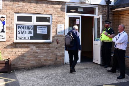 A polling station at the by-election in Peterborough earlier this year