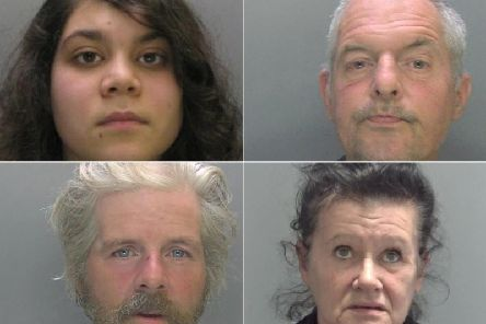 These are the faces of the criminals jailed in Peterborough and Cambridgeshire in October.