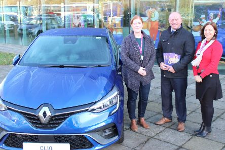 Louise Porter and Teresa Patchett from Vivacity with   Richard Swords from Smiths Renault