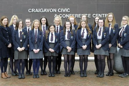 Craigavon Senior High School and their Teacher Carole Dillon.