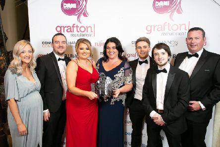 Scaffold Digital Managing Director Tim Proctor (second from left) is pictured with the award-winning team.
