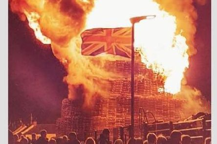Bonfire at Corcrain, Portadown