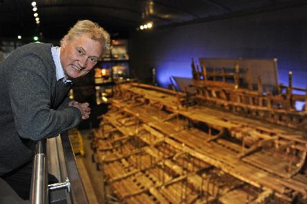 Curator Christopher Dobbs at The Mary Rose.