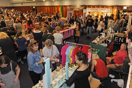 Participants and visitors enjoy the various delights of the Portsmouth Vegan Festival. Picture: Ian Hargreaves