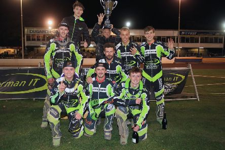 Eastbourne Eagles celebrate at Arlington