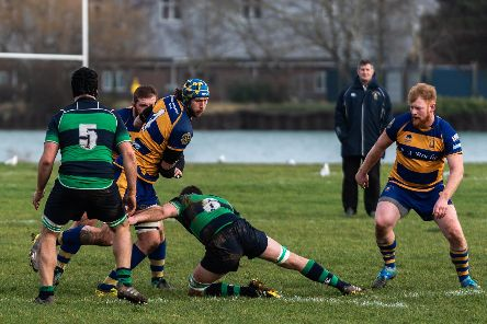Gosport & Fareham beat Old Reigatian last time out and are looking to take that show on the road.  Picture: Vernon Nash (090219-077)