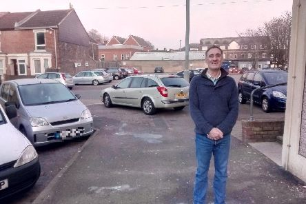 Resident, Jason Davison, is concerned about the potential dangers of people driving onto the pavement.