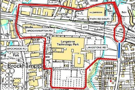 The diversion route which will be put in place when Langstone Road is closed in May for three nights of resurfacing works. Picture: Hampshire County Council