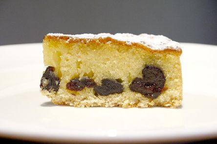Prune and almont tart by Lawrence Murphy.