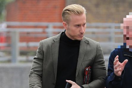Kris Boyson, boyfriend of Katie Price, leaves Medway Magistrates' Court in Chatham, Kent, where he is charged with the use of threatening, abusive and insulting words and behaviour with intent to cause fear or provoke unlawful violence. Picture: Gareth Fuller/PA Wire