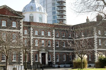 STILL AT-RISK: The Former Royal Naval Academy has been left to crumble for years.