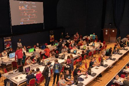 The Retro Games Festival, video games arena at Portsmouth Guildhall in August 2018  Picture: Vernon Nash (180421-010)