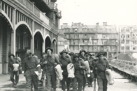 Infantry off to France, departing from South Parade Pier.