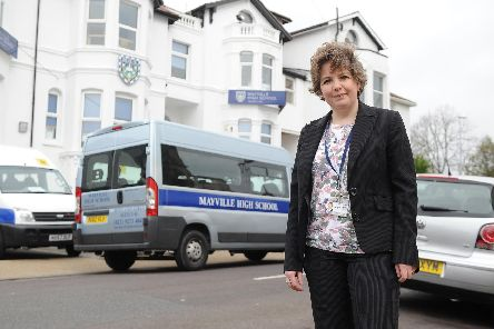 Headteacher Rebecca Parkyn outside Mayville High School in St Simon's Road, Southsea'Picture: Habibur Rahman
