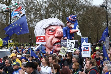The People's Vote March in London today Picture: Yui Mok/PA Wire
