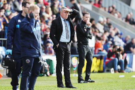 Kenny Jackett is gazing towards the 90-point mark he believes is required for automatic promotion. Picture: Joe Pepler