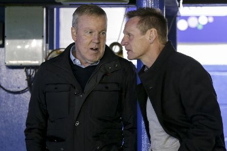 Kenny Jackett and Stuart Pearce chat at Pompey's Checkatrade Trophy match with Spurs under-21s in November. Picture: Robin Jones/Digital South