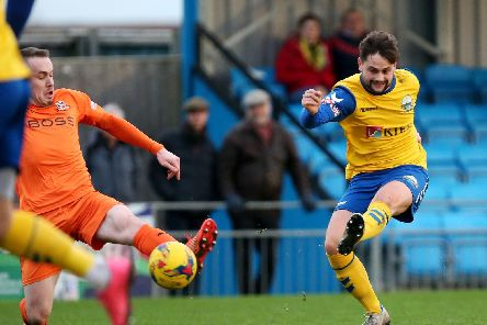 George Barker scored the opener for Gosport Borough. Picture: Chris Moorhouse