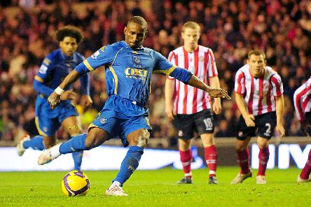 Jermain Defoe nets the winning penalty at Sunderland in 2008. Picture by Anna Gowthorpe/PA Wire.