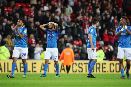 The pain is etched on the players' faces following Saturday's 1-0 defeat at Sunderland. Picture: Joe Pepler