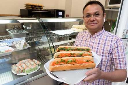 Thanh Tran has opened Boba Baguette in Cascades Shopping Centre. Picture: Duncan Shepherd