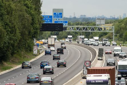 The  M3 smart motorway near Longcross, Surrey Picture: Steve Parsons/PA Wire