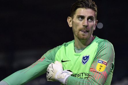 Pompey's Luke McGee. Picture Barry Zee