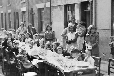 The children of Regent Street, Southsea all seem happy at this party for the coronation of the Queen in 1953.  Photo: Frances Farmer.