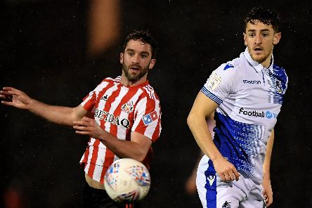 Tom Lockyer, right, in action for Bristol Rovers against Sunderland Picture: by Alex Davidson/Getty Images