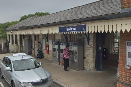 Fareham Station, which faced disruption following a casualty on the tracks close-by.
