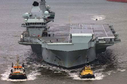 HMS Queen Elizabeth is due to return to Portsmouth. Picture: CPO Tryon/ Royal Navy