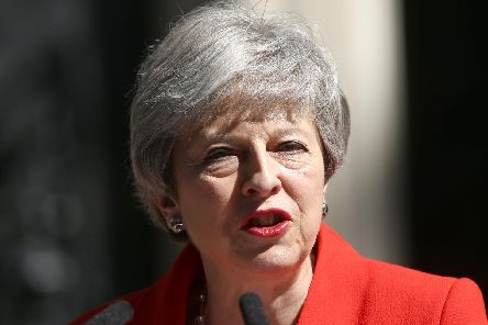 Prime minister Theresa May makes a statement outside at 10 Downing Street in London, where she announced she is standing down as Tory party leader on Friday, June 7. Picture: Yui Mok/PA Wire