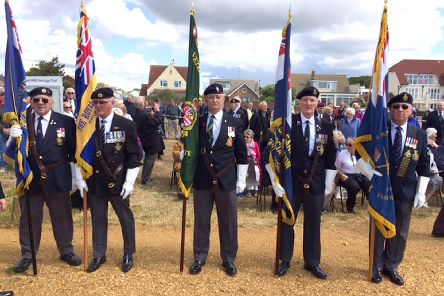 D-Day 75 at the Copp Memorial on Hayling Island Picture: Simon Carter