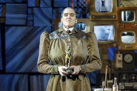 Elliot Harper as Miss Trunchbull in the Royal Shakespeare company's production of  Matilda The-Musical