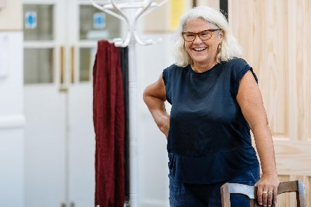 Denise Black in rehearsal for Deep Blue Sea at Chichester Festival Theatre in June/July 2019. Picture by Manuel Harlan