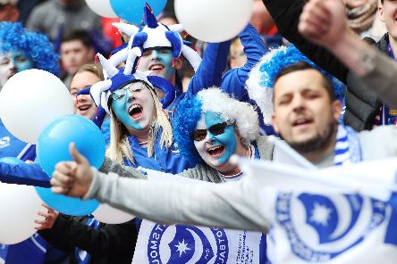 The Fratton faithful are once again backing their side, with 10,000 season tickets now sold. Picture: Joe Pepler