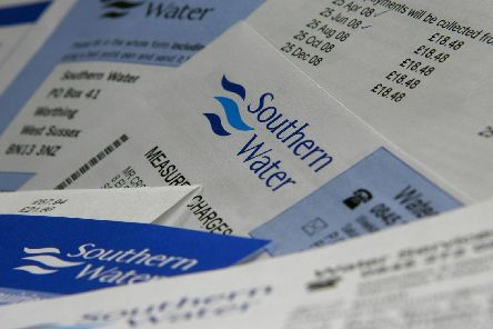 A Southern Water bill. Picture: Chris Ison/PA Wire