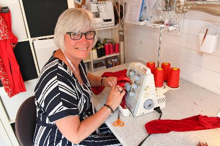 Tuesday Young , dressmaker and seamstress in her Portsmouth workshop