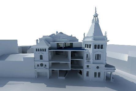 The proposed plans for The Kings Theatre, showing a cut-away view of the new spaces Picture: www.pritchardarchitecture.co.uk