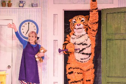The Tiger Who Came To Tea live on stage. Picture by Robert Day.