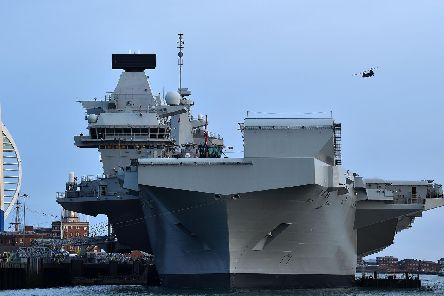 HMS Queen Elizabeth is back in Portsmouth after having problems with her propulsion and flooding. Photo: Glyn Kirk/AFP/Getty Images