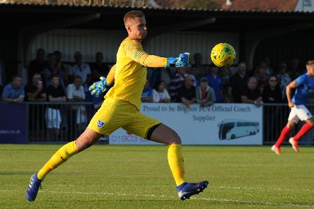 Pompey's Alex Bass. Picture: Tommy McMillan