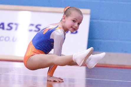 Evie Mae Sangster of Suki Gymnastics Club. Picture: Steve Reid/Blitz Photography