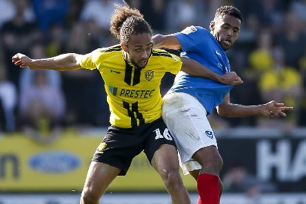 Marcus Harness in action against Pompey. Picture: Daniel Chesterton/phcimages.com