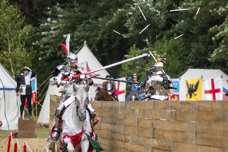 Arundel Castle hosts a medieval jousting week from July 23-28. Picture: Toby Smedley.
