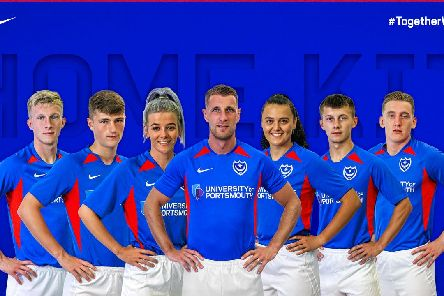 Pompey's home kit for the 2019-20 season. Picture: Portsmouth FC