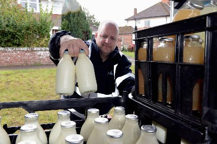 Milkman Keith Adams out on his round.